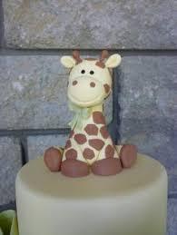 giraffe cake topper baby giraffe cake topper gumpaste baby giraffe made no