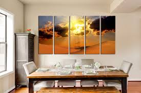 5 piece wall decor landscape canvas print desert huge canvas art
