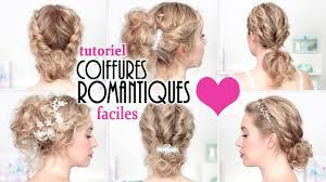 coiffure pour mariage cheveux mi coiffures express pour soirée mariage fêtes tuto chignon facile
