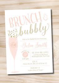 brunch and bubbly bridal shower invitation confetti glitter