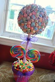 Candy Topiary Centerpieces - candy land party centerpiece girls birthday party themes