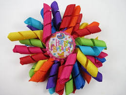 korker bows rainbow birthday hair bow birthday ohsoprettybyasia