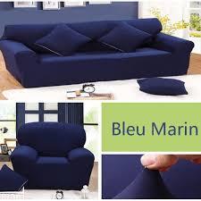 canapé bleu marine bleu marine 1 housse de canapé 3 places 1 housse de canapé 2