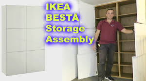 Ikea Besta Storage Combination With Doors And Drawers Ikea Bestå Storage Combination White Assembly Youtube