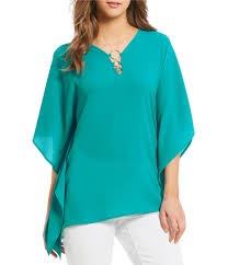 turquoise blouse michael michael kors s casual dressy tops blouses dillards