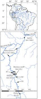 map of the ucayali river in peru a northern south america with