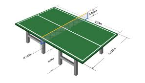 ping pong table playing area table tennis table diagram with bags and packing tips