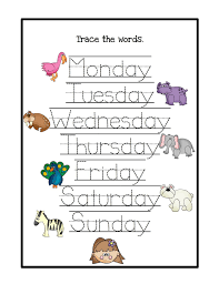 the very hungry caterpillar days of week worksheets for