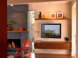 astonishing tv and vase shelf idea living room sloped ceilings