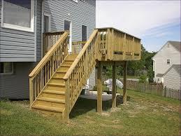 outdoor marvelous decking stair stringer 5 tread exterior stair
