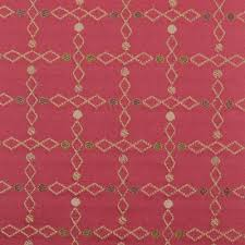 Red Drapery Fabric Highland Court Fabric Silk Traditions Collection Duralee