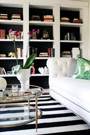 black and white livingoom trendy interior design with areaugs xug