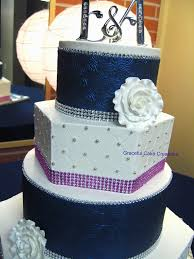 elegant navy blue and white wedding cake a photo on flickriver