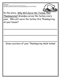 who will carve the turkey this thanksgiving writing pages by