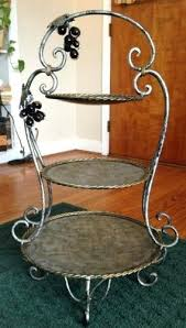 3 tier serving stand buffet plate stand large serving stand and plate holder bronze
