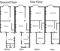 terraced house plans floor plans home design and style