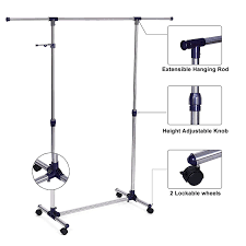 Picture Hanging Height Amazon Com Songmics Heavy Duty Height Adjustable Rolling Clothing