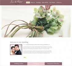 free personal wedding websites 11 free wedding website themes templates design trends