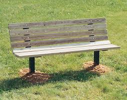 single sided inground park bench
