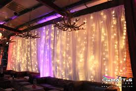Curtain Fairy Lights by Fairy Light Drape For A Corporate Party Corbet Place The Old