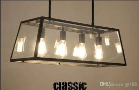 Vintage Kitchen Pendant Lights by Discount Edison Bulb Denpant Lamp Black Metal In Glass Light Box 4