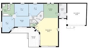 plan maison plain pied gratuit 4 chambres agréable plan maison plein pied 100m2 1 plan maison plain pied