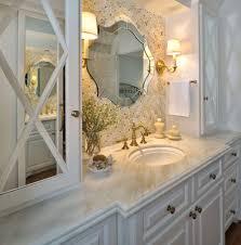 bathroom design elegant silver frame glass unique mirror