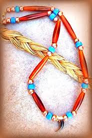 indian beaded necklace images Native american necklace ram horn coyote claw jpg