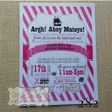 a5 pirate princess birthday invite design 282 mycards akld nz