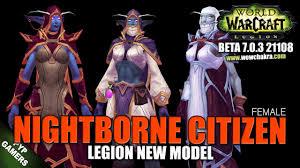 Warcraft Halloween Costume Wow Nightborne Female Citizen Model Warcraft