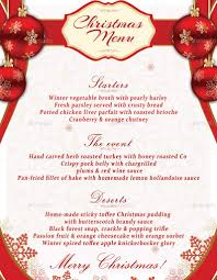 christmas menu templates template design