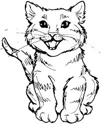 coloring page of a kitty cute cat coloring pages cat coloring cat coloring pages cute kitty