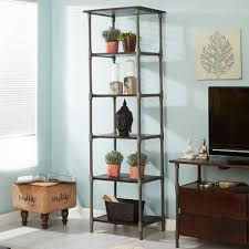 Bookcase Narrow by Indianhub Toko Light Mango Large Open Bookcase