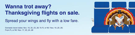 deal alert southwest flash sale for thanksgiving travel