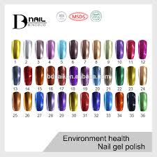 2016 bd metallic mirror effect gel polish soak off color gel nail