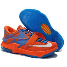 nike kd 7 orange blue on sale