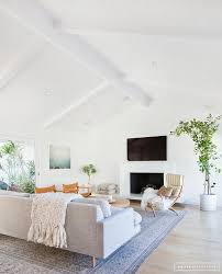 Vaulted Ceiling Living Room Design by A Minimalist Mid Century Home Tour Mid Century Minimalist And