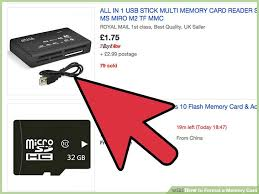 4 ways to format a memory card wikihow
