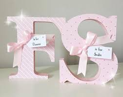 Decorating Wooden Letters For Nursery Decorated Letters Etsy