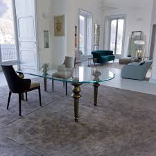 Modern Glass Dining Room Table Dining Tables Oval Glass Dining Table Set Industrial Medium Oval