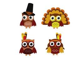 thanksgiving fall owl four pack machine embroidery designs