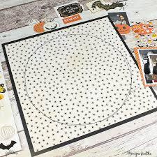 midnight haunting halloween layout pebbles inc