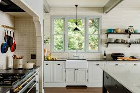victorian kitchen jessica helgerson interior design sink range niche open shelves