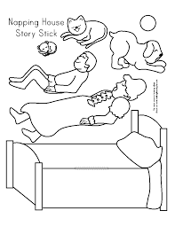 the napping house coloring pages coloring home