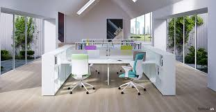 White Office Desks White Office Desks Framework 2 0 4 Person Storage Desk