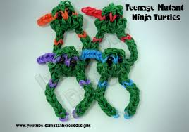 bracelet looms youtube images Rainbow loom teenage mutant ninja turtle charm bracelet jpg