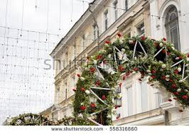 Russian New Year Decorations by Christmas Decorations Of Russian City Stock Images Royalty Free