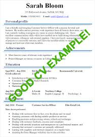 Good Achievements To Put On A Resume Cvs Resume Example