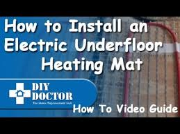 how to install an underfloor heating devi mat including electrical