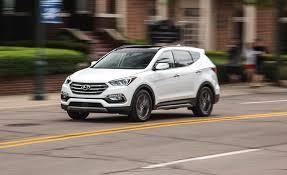 hyundai santa fe 2018 hyundai santa fe sport in depth model review car and driver
